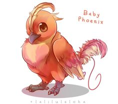 Myth Creature Babies - Phoenix by lalaliluleloha on DeviantArt