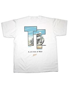 An original retro classic t-shirt featuring the AJS Isle of Man TT Motorcycle Print. A distressed print for that retro look and feel. We think these designs are great pieces of art and look fantastic. Isle Of Man, Retro Look, Printed Tees, Motorbikes, Classic T Shirts, Motorcycle, Mens Tops, Printed Shirts, Motorcycles