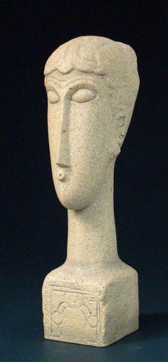 Modigliani Abstract Female Head Tetes with Decorative Base Parastone 8H