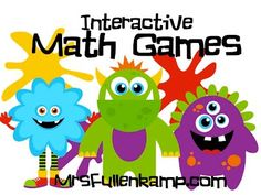 HUNDREDS of FREE math games and activities divided into 26 math categories including, counting, addition subtraction, multiplication, division, measurement, perimeter, geometry, and story problems. Perfect for SMART boards, computer labs and at home practice. MrsFullenkamp.com
