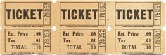 Vintage tickets and bingo card printables