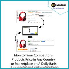 Monitor pricing, inventory levels, availability, and more from any eCommerce #website to gather pricing intelligence #data and track competitor products. Our custom price monitoring solutions can help gather and consolidate product data from websites like #Amazon, #eBay, #Walmart, Target, and other marketplaces. #ecommerce #target #sales #retailers #digitalmarketing #datamining #retail #branding #USA #France #socialMedia Data Cleansing, Data Conversion, Retail Branding, Data Processing, Data Entry, Business Intelligence, Data Collection, Ecommerce, Digital Marketing