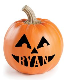 Look at this Pumpkin Face IV Personalized Décor on #zulily today!