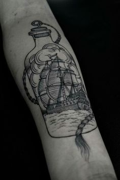 Simplistic Ship in a bottle