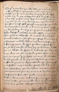 """Anne Boleyn's letter to her father in 1514 in (idiosyncratic) French by Anne Boleyn to her father.  Written while under the care of Margaret of Austria, regent of the Netherlands.dictated by """"Semmonet"""", a male tutor in Margaret of Austria's household"""