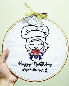 "27 Likes, 1 Comments - Peek A Boo Craft (@peekaboo.craft) on Instagram: ""Happy birthday for you🎂 . . 📷 @michelleoey . . #kadounik #kadounikmurah #handembroidery #kadounik #kadounikmurah #handembroidery #handmadeindonesia #kadowisuda #graduationgift #wisuda #kadounik #hoopartindonesia #hadiahwisuda #kadosidang #sidang #handembroidery #ilustrasiwajah #vektorwajah #sulaman #pajangandinding #homedekor #dekorasiunik #dekorasikamar #kadoulangtahun #kadoulangtahununik #ulangtahun #customkado"