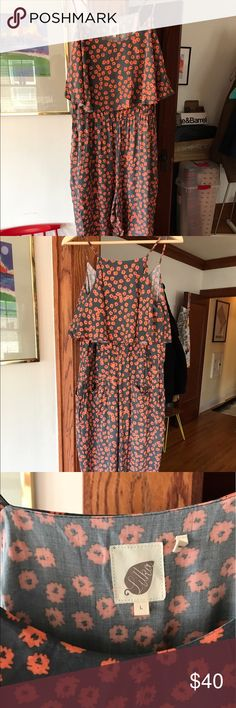 Floral romper Floral romper worn one time!!! From Anthropologie- perfect condition, perfect for summer. Anthropologie Other