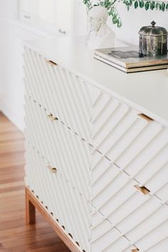 a Humble IKEA Dresser Into a Gorgeous Bedroom Piece IKEA carved wood dresser hackIKEA carved wood dresser hack Diy Furniture, Furniture Design, Ikea Furniture Makeover, Furniture Websites, Bedroom Furniture, Furniture Stores, Inexpensive Furniture, Furniture Companies, Luxury Furniture