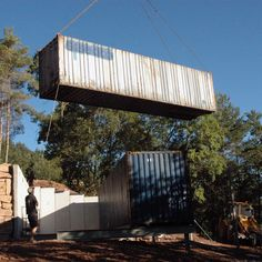 Container House in Muntanyola (Barcelona). Nova, Building A Container Home, Container Architecture, Construction Process, Barcelona, David, Outdoor Decor, House, Home Decor