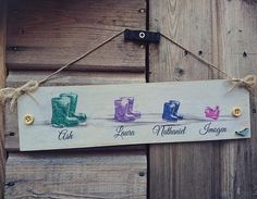 Our family sign wellies / Wellington boots sign / family wellies / New home gift / family tree gift / countryside gift / dog lover gift / Dog Lover Gifts, Dog Gifts, Dog Lovers, New Home Gifts, Gifts For Family, Wellies Boots, Wellington Boot, Gift Hampers, Family Signs