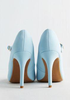 Shoe Had Me At Hello Heel in Sky   Mod Retro Vintage Heels   ModCloth.com