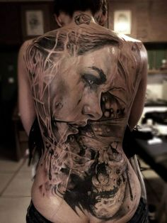 10 Mind Blowing Back Piece Tattoos - I would never get some of these but they're beautifully done!!