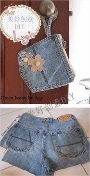 Boas ideias para reciclar jeans - Arteblog 2012