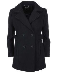 VILA - Černý kabát  Sound - 1