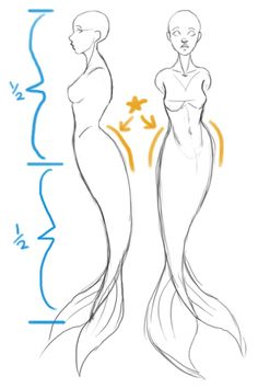 SarahCulture How to draw Mermaids for MerMay coming up next. - SarahCulture SarahCulture How to draw Mermaids for MerMay coming up next. Art Drawings Sketches Simple, Pencil Art Drawings, Easy Drawings, Fantasy Drawings, Drawing Reference Poses, Drawing Poses, Painting & Drawing, Drawing Tips, Drawing Drawing