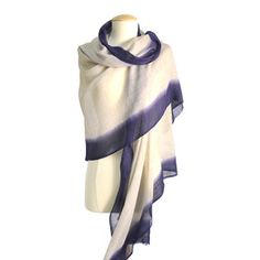 Dali Border Dipped Scarf Indigo, $49, now featured on Fab.