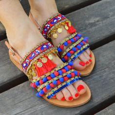 Sandals of Love Boho Sandalen im Azteken-Stil