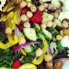 Lunchtime! Very #cleaneats and #protein packed salad.