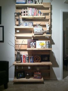 "diy pallet shelves..pinned to ""It's a Pallet Jack"" by Pamela"