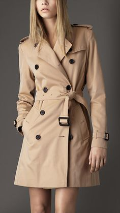 Mid-Length Cotton Gabardine Trench Coat | Burberry - mine's not Burberry... but I love it!