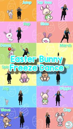 Easter Bunny Freeze Dance is perfect for Spring, April and Easter themed activities. Take a brain break and move and freeze with Easter Bunny friends. Freeze dance activities are perfect for everyone! Freeze dance brain break activities foster student engagement, listening, emotional health and brain connections as students have fun! Be sure to use the Easter Bunny Freeze Dance! Movement Activities, Class Activities, Line Up Chants, Kindergarten Music Lessons, Freeze Dance, Brain Connections, Music And Movement, Brain Breaks, Elementary Music