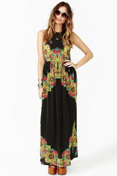 Gypsy Rose Silk Maxi Dress