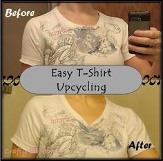 teeshirt redos | ... DIY Upcycle mini-project - Tshirt neckline redo | Crafty WI Mama