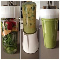 The Tribest Personal Blender. This is the best blender for smoothies and juicer I have ever come across. No clean up, just one cup to clean and a a pari of blades to swill. Makes my juices within seconds each day!!!!