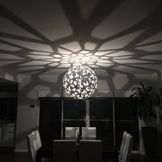 This image brilliantly captures the shadow effect of a David Trubridge CORAL pendant light. Click image for where to buy or to sign up for our newsletter.
