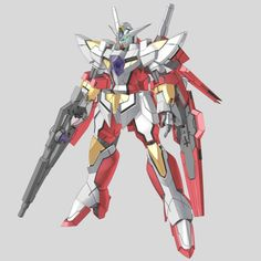 CB-0000G/C Reborns Gundam (aka Reborns Gundam, Reborns Cannon), is a transformable mobile suit built and used by the Innovators in season two of Mobile Suit Gundam 00. It is piloted by Ribbons Almark. Front