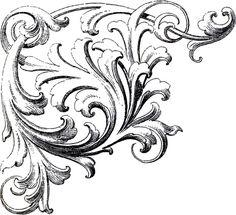 Scrolls Corner Ornament Images