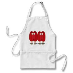 Must Love Popsicles kitchen apron