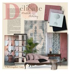 """""""Delicate modern alchemy"""" by monicavast ❤ liked on Polyvore featuring interior, interiors, interior design, home, home decor, interior decorating, nuLOOM, Christopher Guy, Arteriors and Lite Source"""