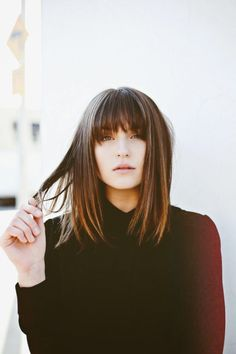 pin + insta //  @ f o r t a n d f i e l d  ♥  dark brown hair with bangs