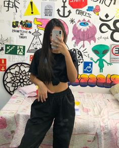 Urban Outfits, Outfits For Teens, Trendy Outfits, Girl Outfits, Girl Pictures, Girl Photos, Ropa Hip Hop, Girls Tumbler, Selfie Poses