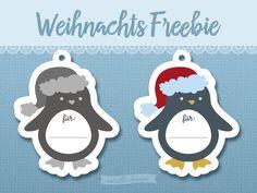 Pinguin Geschenkanhänger Freebie, Plotter oder nicht ganz egal.
