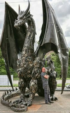 Tom Samui Dragon 5.00m made from car and motorcycle parts. la