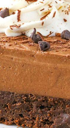 Baileys Chocolate Mousse Brownie Cake