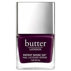 Proven to promote brighter, stronger, healthier nails, this butter LONDON Patent Shine Nail Lacquer delivers limitless shine for up to 10 days of wear. Mauve Nail Polish, Butter London Nail Polish, Nail Lacquer, Simple Nails Design, Nail Design Spring, Butter London Patent Shine, Opal Nails, London Nails, Gel Nails At Home