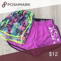 VSX sport shorts Two pairs. Size small. Don't like the fit. Mint Condition. Victoria's Secret Shorts