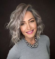 Grey Hair Care, Long Gray Hair, Silver Grey Hair, Grey Hair Over 50, Grey Hair With Dark Roots, White Hair, Hair For Over 50, Grey Hair Bob, Short Hair