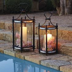 Enjoy Your Spring With Diy Outdoor Lanterns Enjoy Your Spring With Diy Outdoor Lanterns Enjoy Your Spring With Diy Outdoor LanternsWhen choosing outdoor lighting for your home, c Lanterns Decor, Outdoor Decorations, Outdoor Candle Lanterns, Porch Lanterns, Decorative Lanterns, Garden Lanterns, Decorative Lighting, Diy Pergola, Pergola Kits