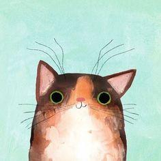 Smudgie by angierozelaar #CatIllustration