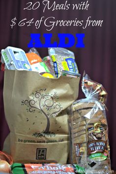 See how this mom uses her 64 dollar grocery budget at Aldi and make 20 meals.