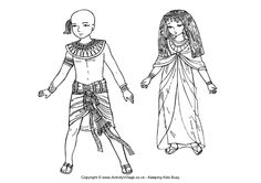 Ancient Egyptian children colouring page.   Use with SS journal and note taking. Option for those who do not want to sketch people.