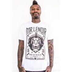 Mr Lenoir Lion Tee White - Mr Lenoir
