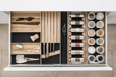 KITCHEN ACCESSORY SLIDING DRAWER SYSTEM | SIEMATIC