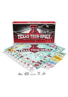 Texas Tech Board Game Tech-Opoly http://www.rallyhouse.com/shop/texas-tech-red-raiders-10900010?utm_source=pinterest&utm_medium=social&utm_campaign=Pinterest-TexasTechRedRaiders $26.95