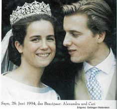An impressive tiara owned by the German Princely Family of Sayn-Wittgenstein-Sayn.