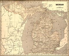 Michigan State 1844 by Morse and Breese Historic Map. A wide and growing selection of inexpensive reprints of rare Historic Maps are available from Hearthstone Legacy Publications at: http://www.hearthstonelegacy.com/Historic-Map-Reprints.htm